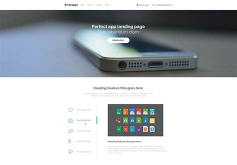 20 best landing page wordpress themes for apps products and services 20 best html mobile app landing page templates web