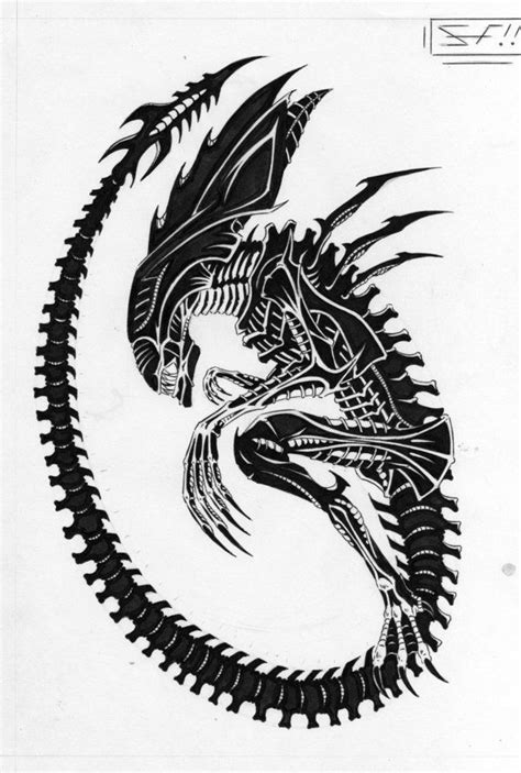tribal xenomorph tattoo 69 best tattoos images on