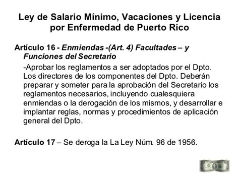 Cambios A La Ley 180 De Vacaciones Boletin Laboral | ley salario minimo vacaciones puerto rico autos post