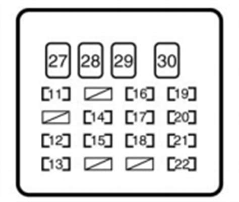 toyota yaris mk1 1999 2005 fuse box diagram auto