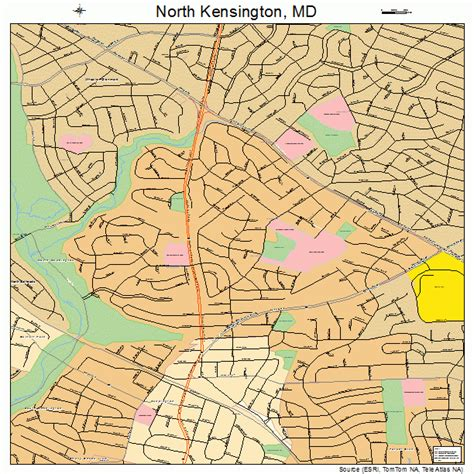 kensington md north kensington maryland street map 2456712