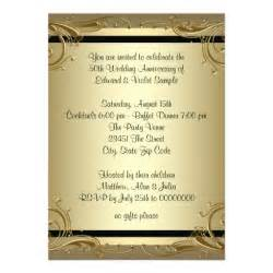 50th wedding invitation templates wedding invitation wording 50th wedding anniversary
