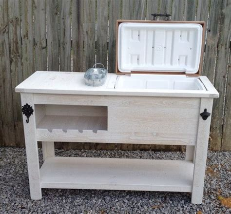 backyard cooler outdoor rustic wooden cooler bar serving or console table bar cart or mini fridge