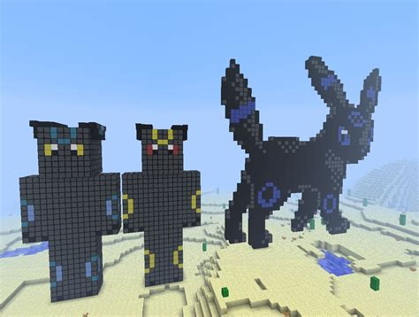 shiny umbreon pixel art minecraft project