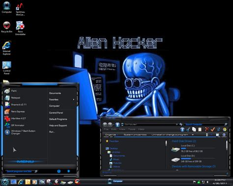 download theme for windows 7 hacker alien hacker theme for windows 7 dzparadise