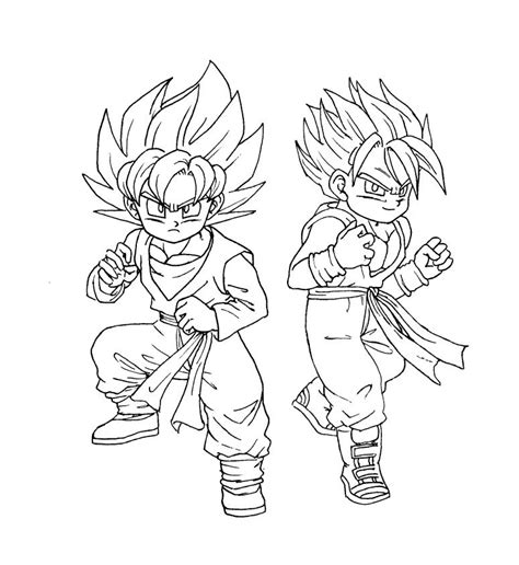 dragon ball z trunks coloring pages free coloring pages of ssj5 trunks