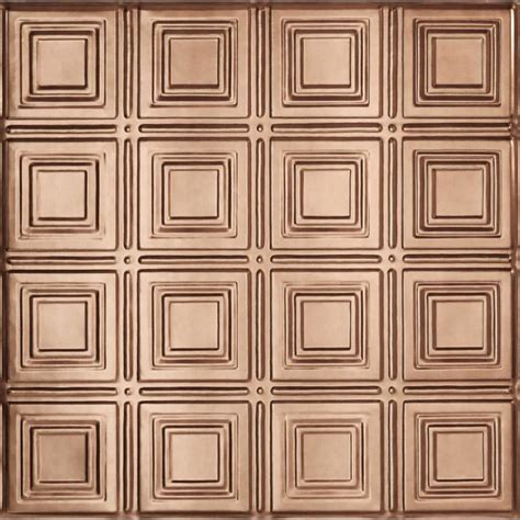 shop armstrong metallaire copper patterned 15 16 in drop
