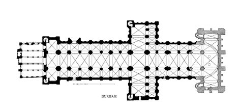 parts of a cathedral floor plan durham cathedral plans and drawings