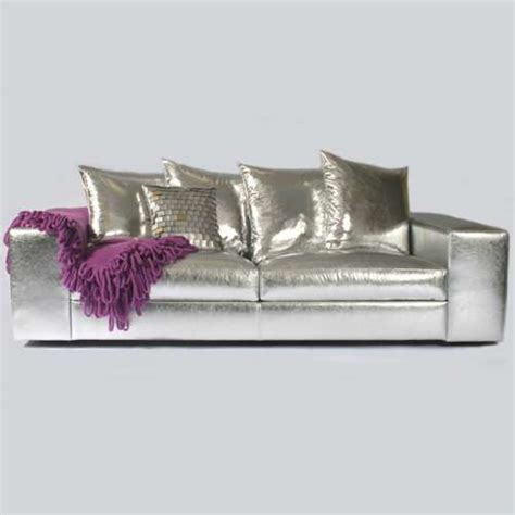Silver Leather Sofa Silver Leather Sofas Hollywood Stardom