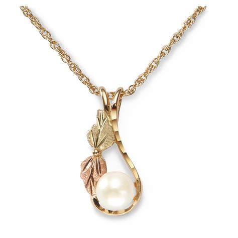 mt rushmore black gold pearl drop necklace 230516