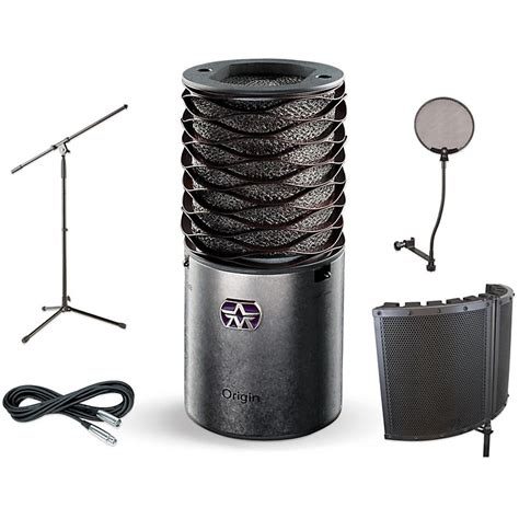Mic Microphone Tripod Stand Mini Pop Filter Circle aston microphones origin vs1 stand pop filter and cable kit music123