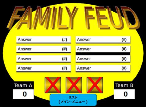 Family Feud Powerpoint Template Free Download Professional Templates For You Powerpoint Family Feud Template Free