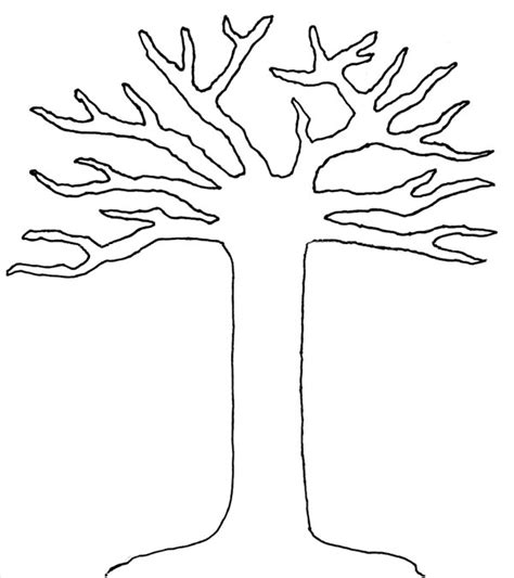 tree pattern without leaves coloring page tree 8 best images of large printable tree pattern printable