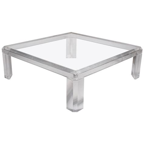 Acrylic Coffee Table Square Acrylic Or Lucite Coffee Table At 1stdibs