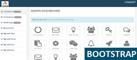simple bootstrap templates for admin panel free simple responsive admin nice and clear