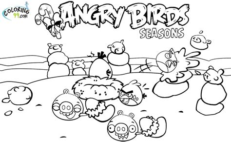 free angry birds seasons coloring pages