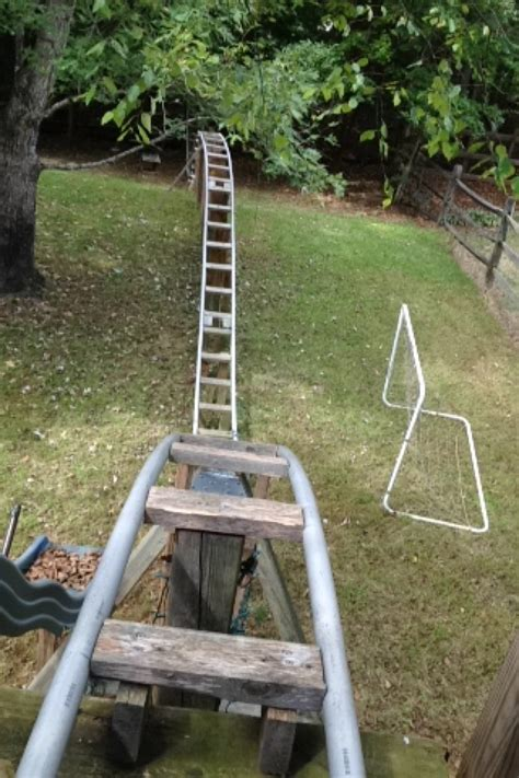 backyard pvc roller coaster my homemade roller coaster yes it s fully functional