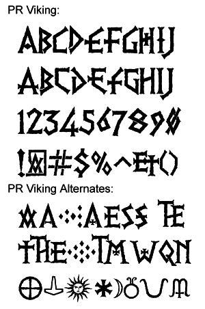 Viking Tattoo Font Generator | altdeutsche schrift fonts schriftarten in nanopics