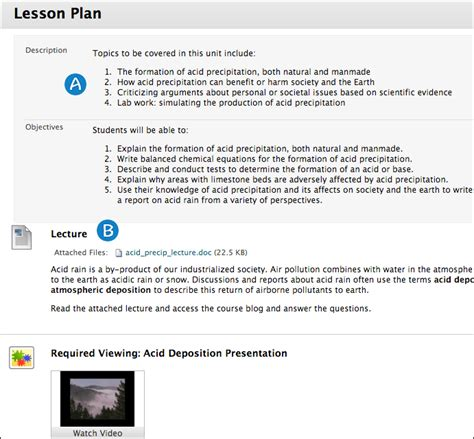 lesson plan objectives lesson plans blackboard help