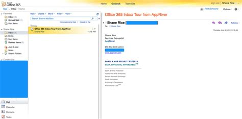 Office 365 Outlook Desktop Version A Look At Office 365 Outlook Web App Inbox Appriver