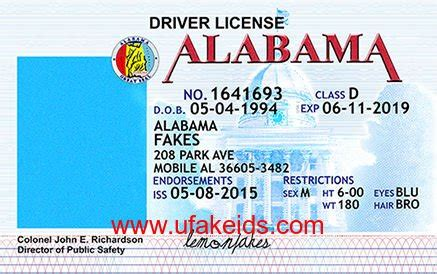 alabama id card template id template best business plan template