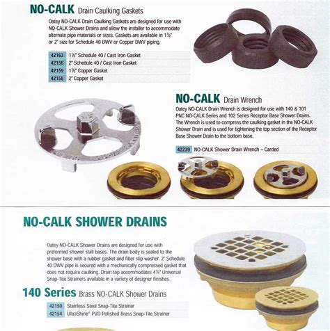 installing lasco shower stall with oatey no calk drain