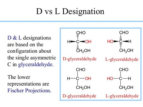 d l isomers carbohydrates carbohydrate