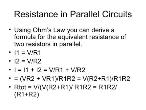 excel formula for resistors in parallel series and parallel circuits