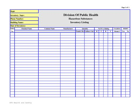 inventory list templates chemical inventory list template sle helloalive
