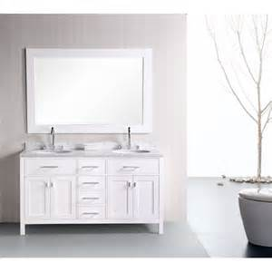 White Double Bathroom Vanities by Design Element Dec076a 2 London 61 Double Sink Bathroom