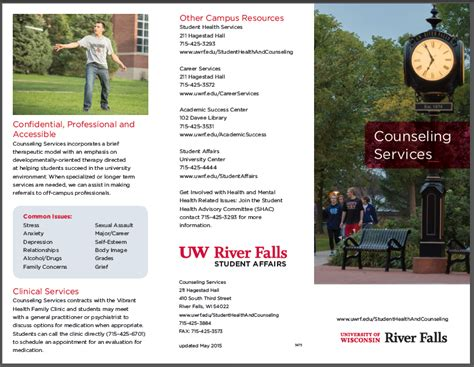 counseling services brochure university of wisconsin