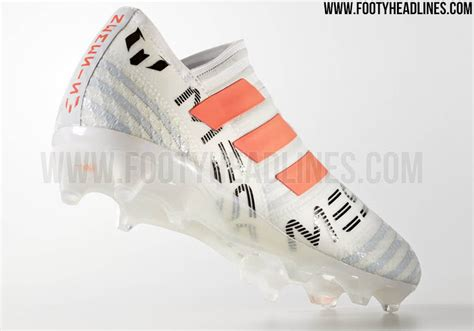 football shoes calendar white orange laceless adidas nemeziz messi 17