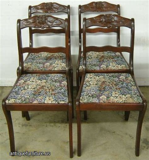 antique set mahogany dining room chairs at antique