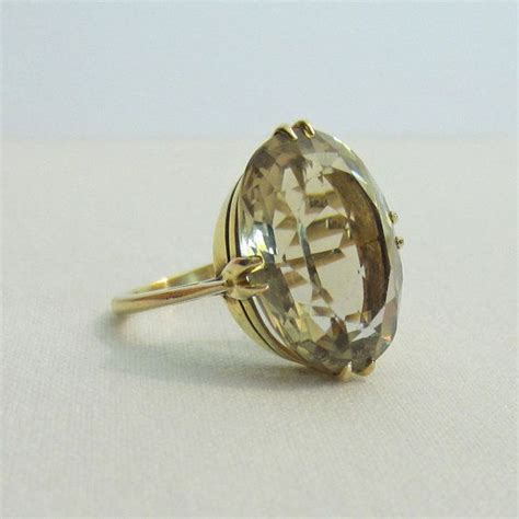 antique citrine ring yellow citrine in yellow gold