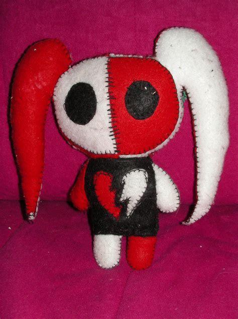 freaky felt gothemo friends rabbit plushie sewing