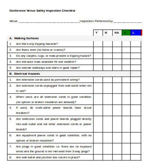 Wedding Venue Checklist Pdf by Venue Checklist Templates 7 Free Word Pdf Documents