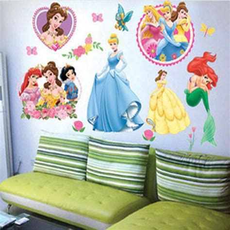princess home decor princess home decor art wall stickers for kids rooms child