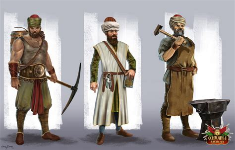 ottoman wars character concepts for ottoman wars game by bakarov on