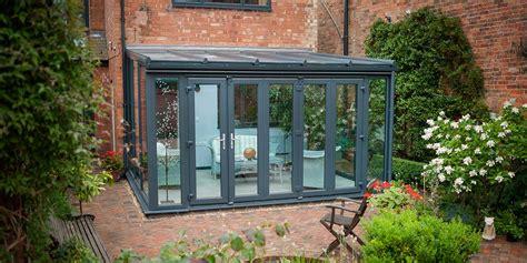 modern lean  conservatory modern grey conservatories