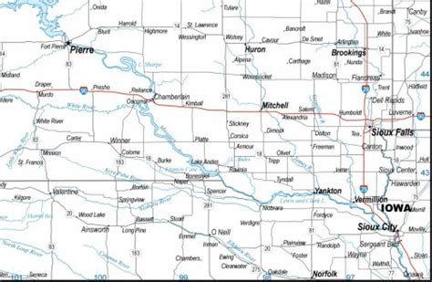 printable south dakota road map south dakota map highways download to your computer