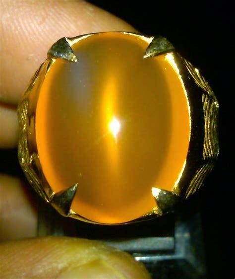 Cat Eye Orange Raflesia Bengkulu raja gemstone gold rafflesia doble fenomena