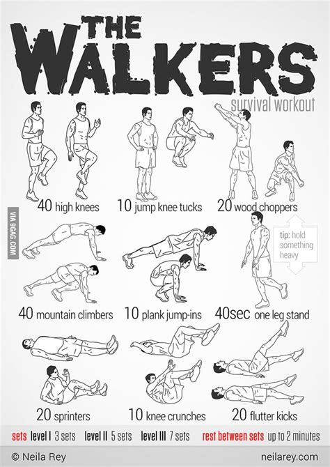 the walking dead survival workout 9gag