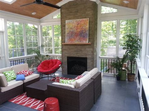 Gas Fireplaces Raleigh Nc by Raleigh Nc 3 Season Room With Gas Fireplace
