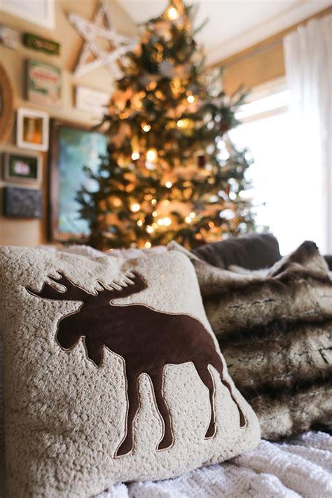 christmas moose home decor mountain modern life cozy christmas home decor
