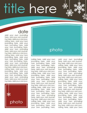 free family newsletter download for holiday cards
