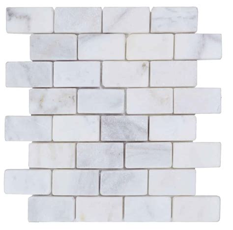 marble mosaic tile imperial white tumbled marble mosaic tiles natural stone