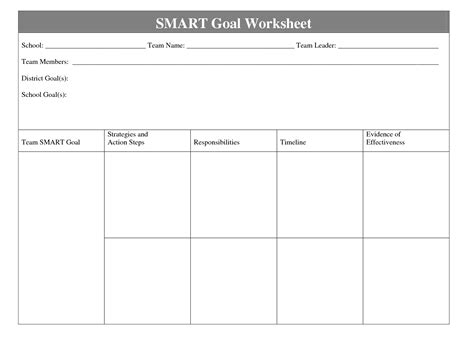 smart plan template 8 best images of smart goal template printable smart