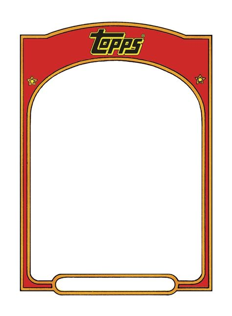 topps card template 17 best trading cards images on
