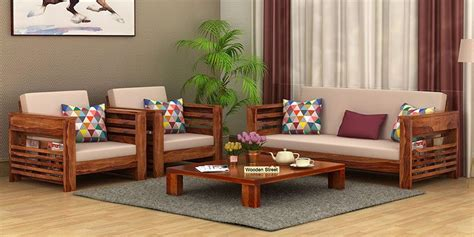 wooden sofa set buy wooden sofa set   india upto