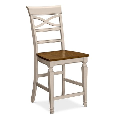 bar stools heights chesapeake ii dining room counter height stool value city furniture